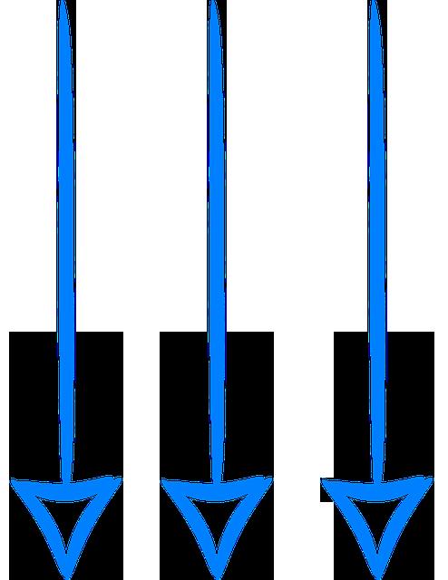 arrows-down-blue